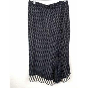 WILLE Germany Stripe Sheer Dotted Overlay Skirt